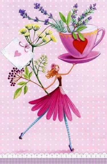 Such a pretty illustration of coffee love and flowers!   Aline  ♥