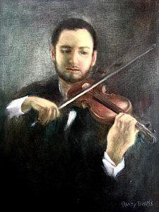 Painting - Violin by Randol Burns
