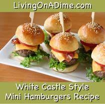 White Castle Style Mini Hamburgers – Mushroom Spinach Salad, Baked Onion Rings and Homemade Seasoned Salt