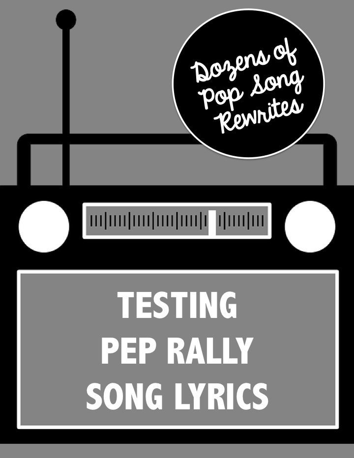 Trying to motivate your students before state testing? Kids LOVE pep rallies! Get song lyrics here, find instrumental music online, gather singers & get ready to rock!