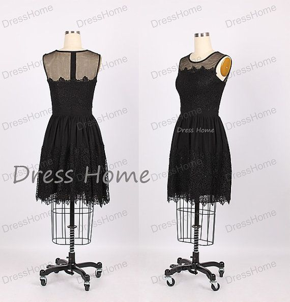 Bridesmaid Dress Black Short Bridesmaid Dress by DressHome