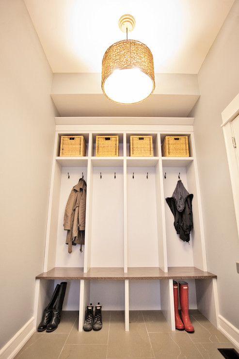 17 best ideas about built in lockers on pinterest for Open lockers for mudroom