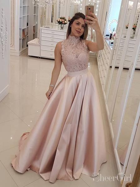 a4cc6c6b942 Cheap Maroon Prom Dresses Long Military Ball Gown with High Neck ARD2096- SheerGirl