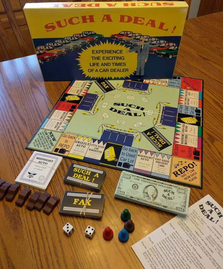 """Rare """" Such A Deal """" Vintage Board Game Used Car Dealer"""
