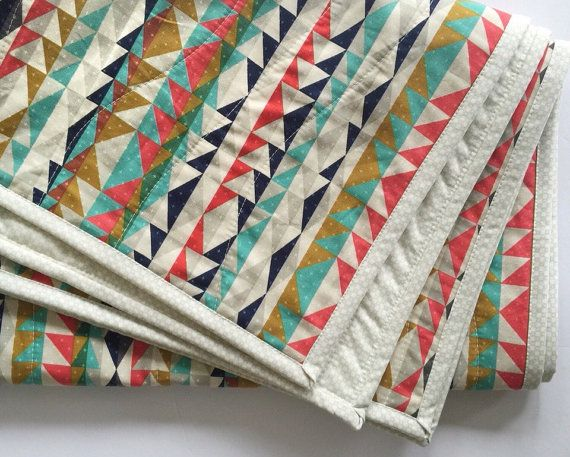 Modern baby quilt-modern toddler quilt-baby quilt blanket-homemade baby quilt-baby bedding-toddler bedding-baby quilts for sale-kilim-aztec