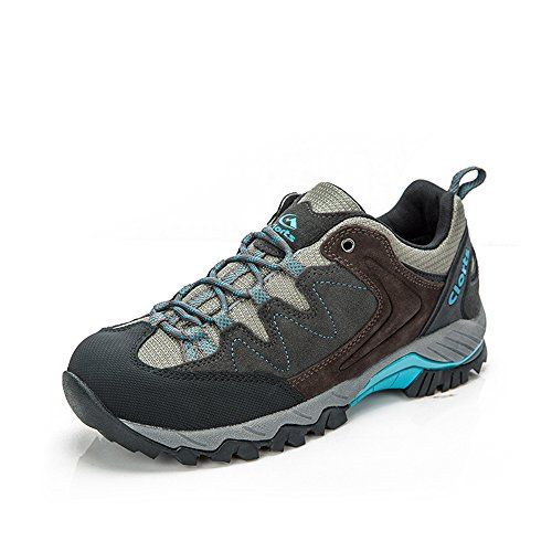 Clorts Womens Hiker Leather Waterproof Hiking Shoe Outdoor Trail Shoes Blue HKL806G US55 ** Learn more by visiting the image link.