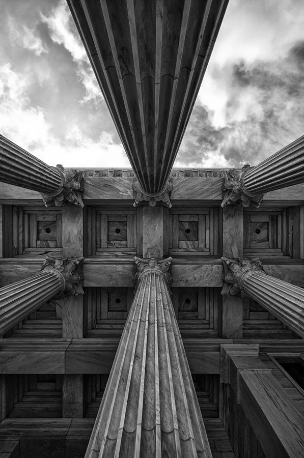[ columns + sky ] -- I love this photo.
