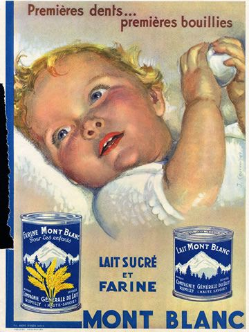 1933 vintage ad for Baby Farina  French
