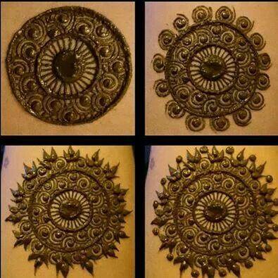 detailed circles mehandi - finishing