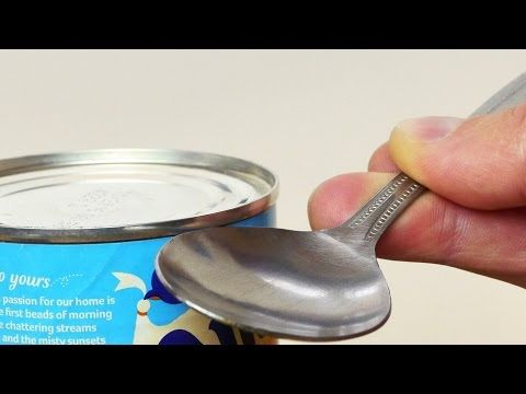 How to Open a Can in an Emergency - Life Hack - YouTube