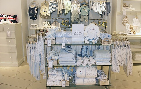 The white company in store display