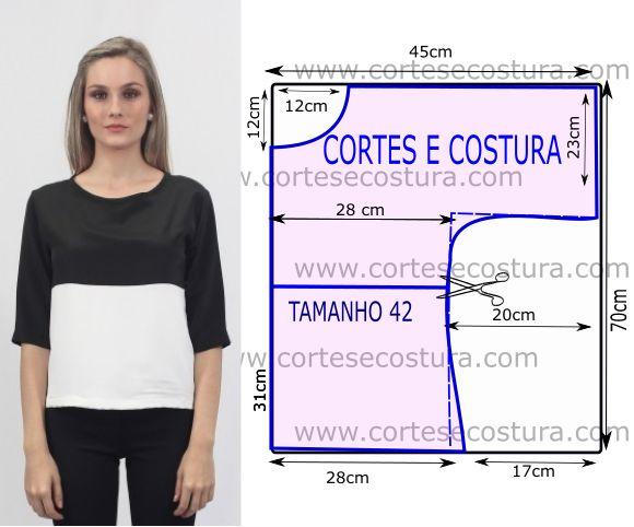 Esta blusa tecido crepe tem um estilo casual e simples e veste bem com uma calça ou calção jeans ou malha. O estilo casual fica bem no dia-a-dia agitado...