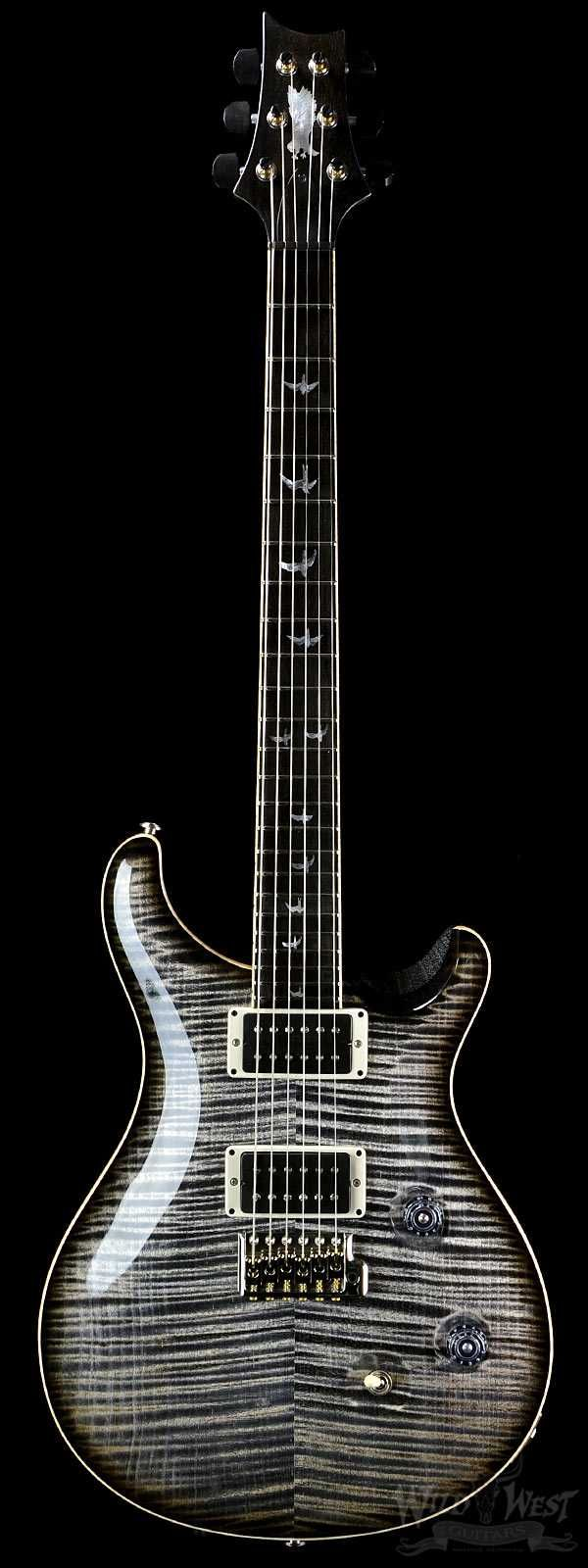 LET'S ROCK ON..PRS Paul Reed Smith Custom 24 Private Stock  Charcoal Smoked Burst BELLADONNA