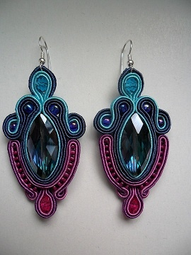 Kolczyki Alice #earrings #soutache