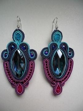 Kolczyki Alice #earrings #soutache
