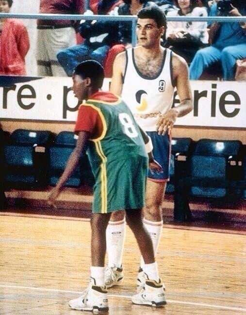 Kobe Bryant age 12 playing in Italy (x-post /r/nba)