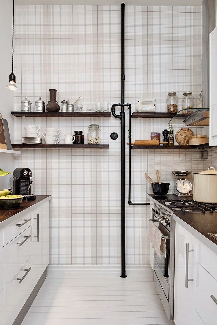 Jurnal de design interior - Amenajări interioare : Accente industriale într-un apartament de 40 m²