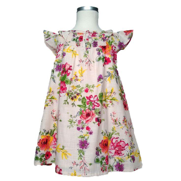 Φούστες Φορέματα κορίτσι βρεφικό : Φόρεμα βρεφικό SPRING 2015 FLOWER ΡΌΖ