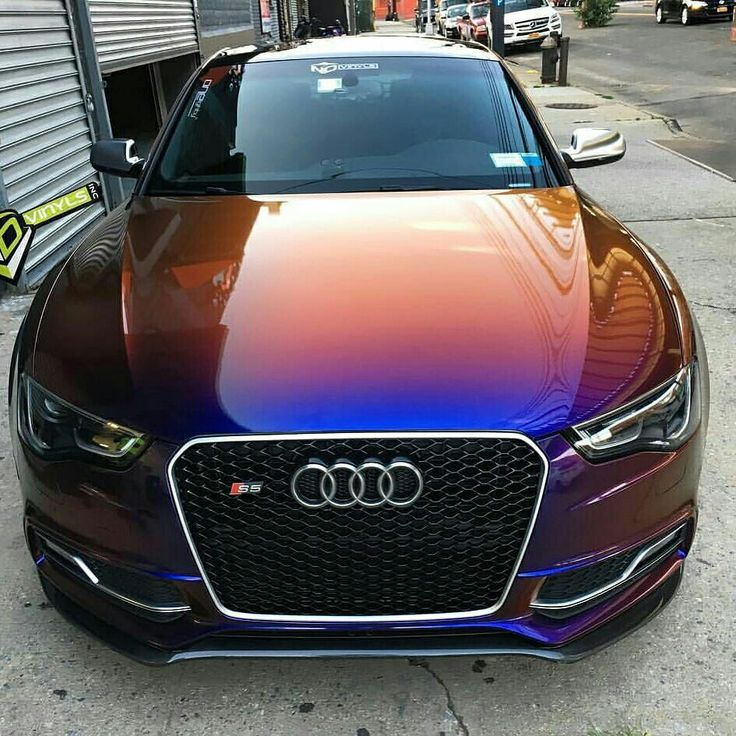 Gorgeous colors would look great on a Tesla Model S too. This was a foil wrap. In SoCal, Moe at Glistening Perfection specializes in Teslas and would be happy to do this for your car.