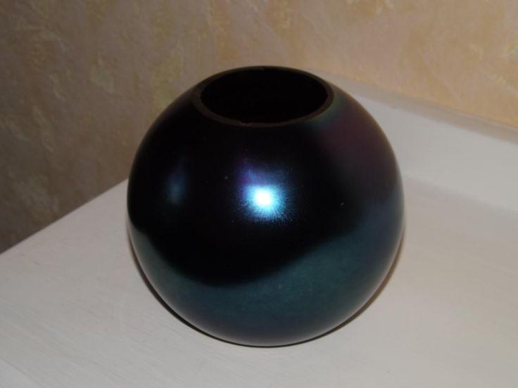 vase boule Tchécoslovaquie irisé 1930 1940 art déco