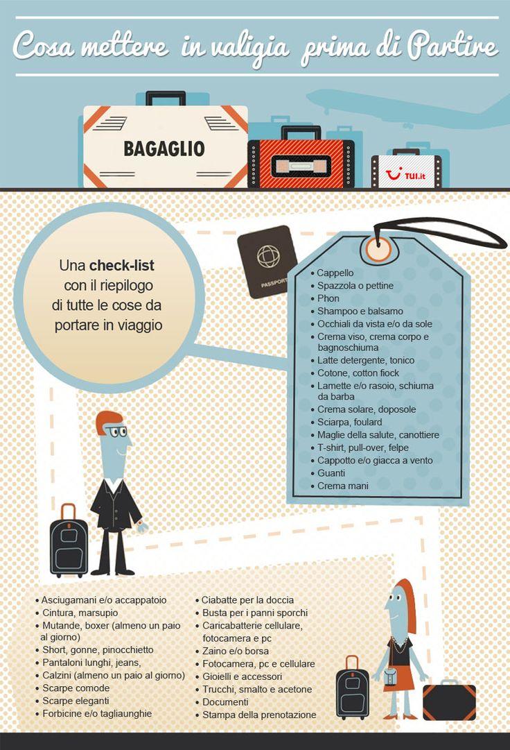 Cosa mettere in valigia, ecco la lista di TUI.it!  http://www.tui.it/cosa-mettere-in-valigia
