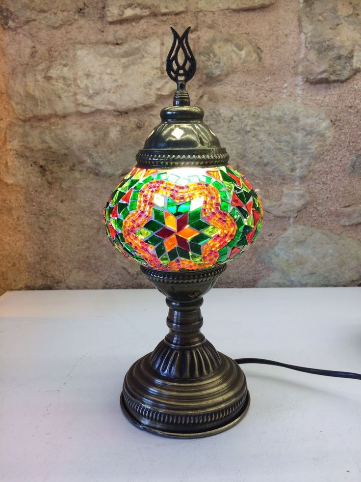 "TURKISH MOSAIC TABLE LAMP, 30 cm (11.8""), MULTI-COLOR 002"
