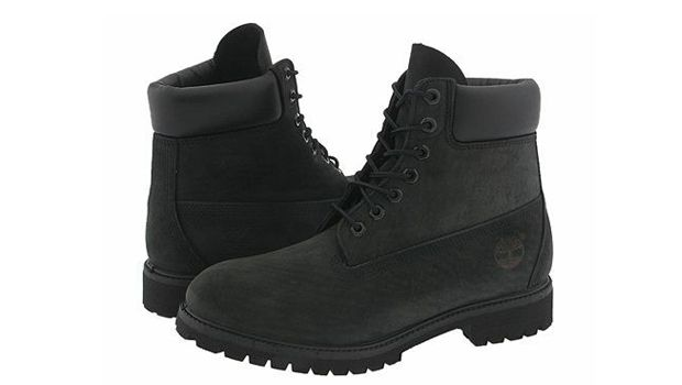 Love the all black Timberlands! #hot #shoes