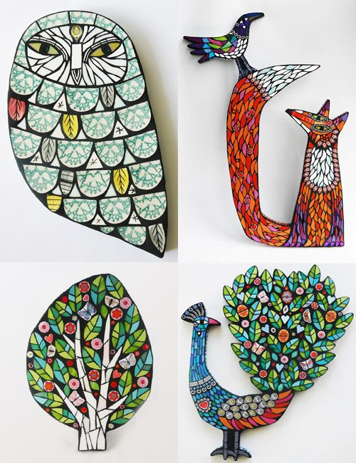 Mosaic Menagerie by Amanda Anderson                                                                                                                                                      More