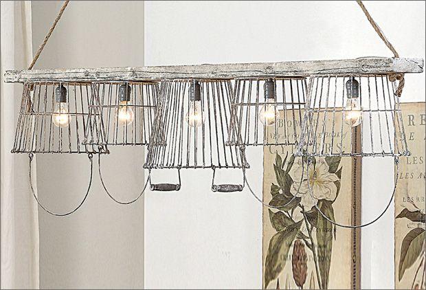 Antique farmhouse Wire & Metal chandelier