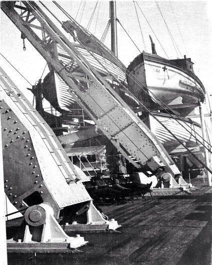 Britannic Engine Room: HMHS Britannic S Life Boat Cranes. These Were A Huge