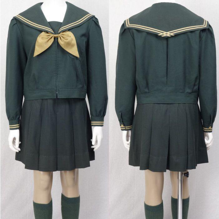須賀川桐陽高校 緑 セーラー服 ジャケット スクール水着 制服 160429b_detail3