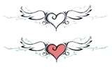Heart Tattoo. . would get with pink and blue wings for pro-life.