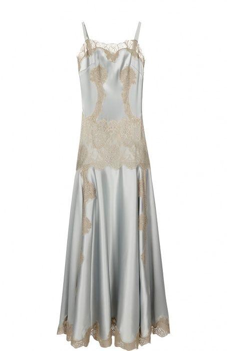 Платье-комбинация в пол с кружевной вставкой, Dolce & Gabbana, где купить: Dolce & Gabbana