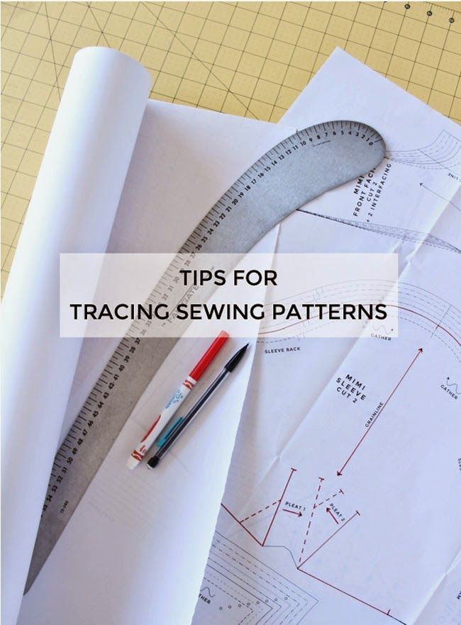 Tips for tracing sewing patterns
