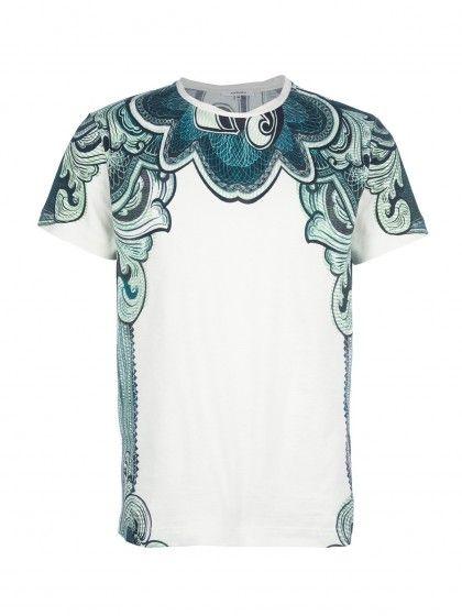 Collar print t-shirt