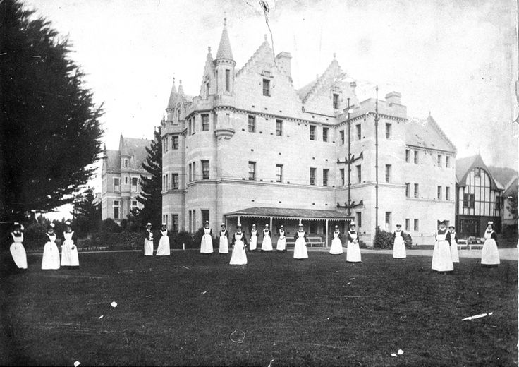 Seacliff and Nurses, Dunedin (NZ) · [Sir Frederic Truby King] 1890 - the Seacliff Lunatic Asylum. Truby King arrived at the facility to take up the position of Medical Superintendent.