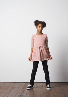 Stroll Dress in orange. Looks great with tights or jeans. www.letween.com