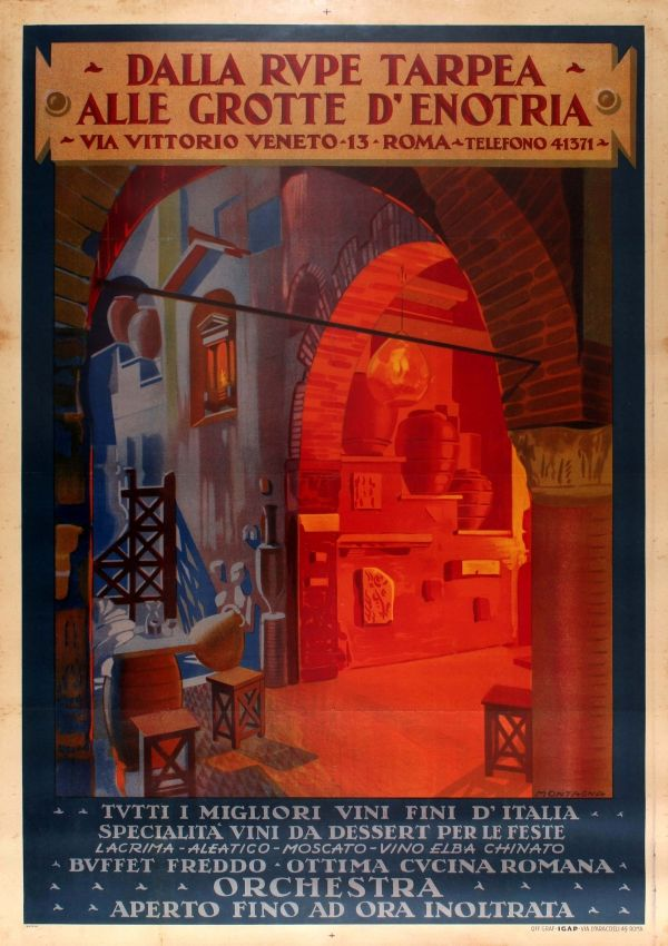 For Sale Posters Advertising Vintage Wine Italy Restaurant