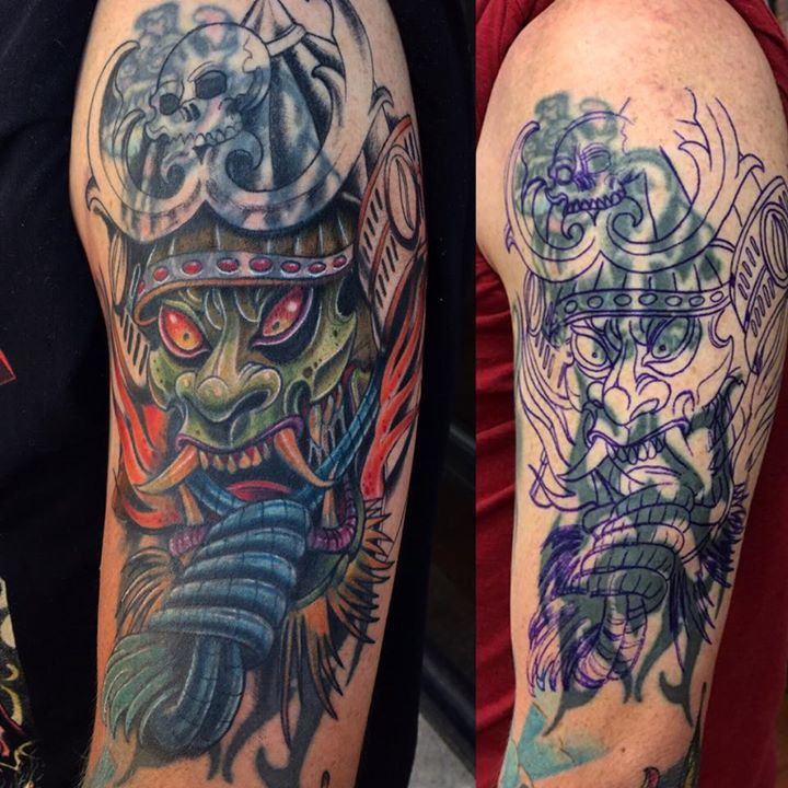Coverup Tattoo by Justin from Electric Anchor Tattoo Co