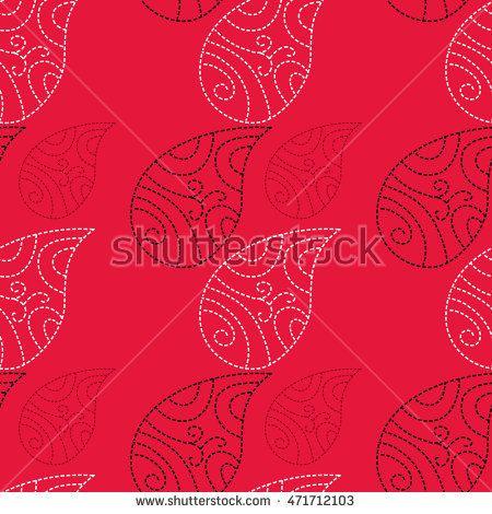 Рука нарисованные бесшовные шаблон с пейсли. Используют для печати на упаковках, бумаги, текстиля и других материалов.