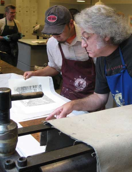 Printmaking at The Art Students League of New York