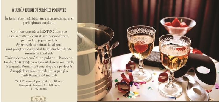 Valentine's la Hotel Epoque Bucuresti! Sarbatoreste la hotel de 5 stele  ziua iubirii!