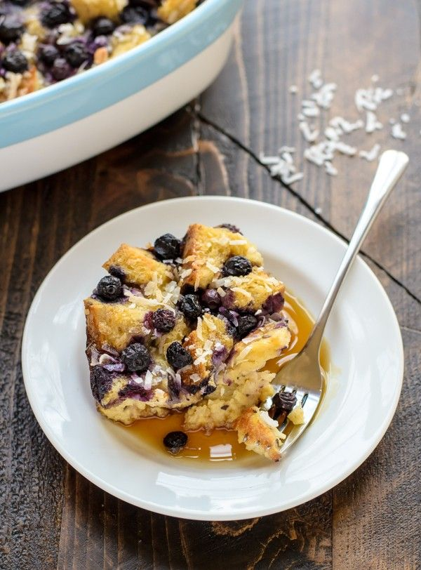 Blueberry Coconut French Toast Casserole