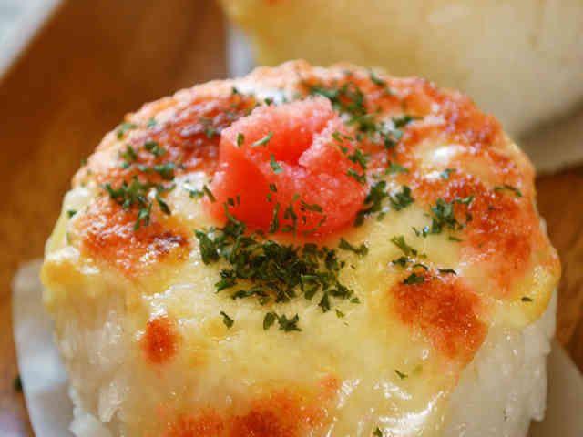 たらこマヨネーズ&チーズの焼きおにぎりの画像