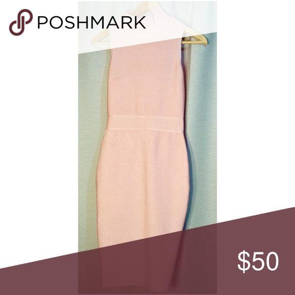 Pink Bodycon Dress Blush pink Bodycon midi dress. Size Small. Falls mid calf. Never before worn. Alice & Elmer Dresses Midi