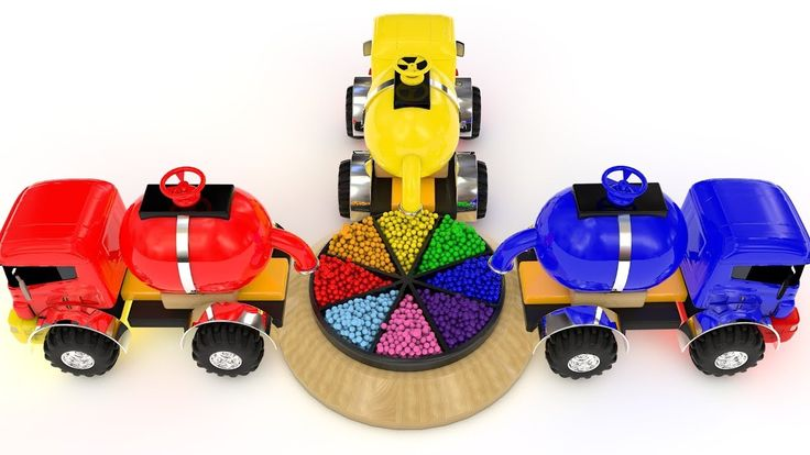 Learn Colors and Shapes with Water Tank Truck & A Lot of Color Balls Woo...