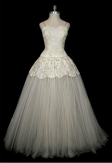 Vintage 1950's Christian Dior wedding gown