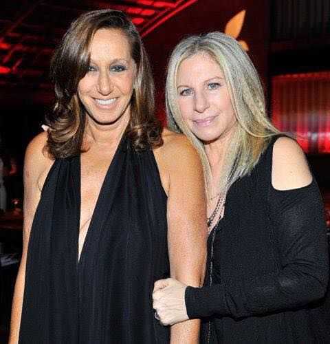 Photo of Barbra Streisand  & her friend Donna Karan