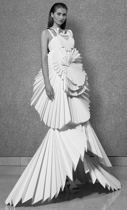 Paper dress // paper cuts, anyone?