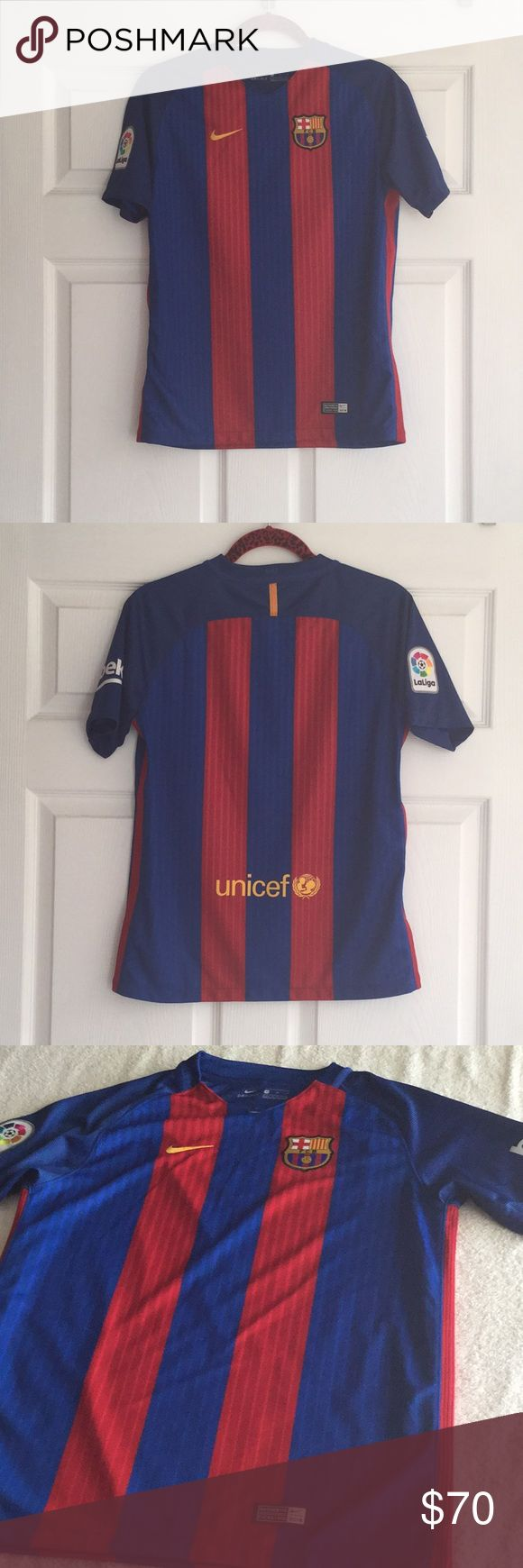 (Men) Nike - FC Barcelona Jersey 2016 Excellent condition. It is FC Barcelona 2016.                            Small for Men and XL for boy. Beko & La Liga Spain. Nike Shirts Tees - Short Sleeve